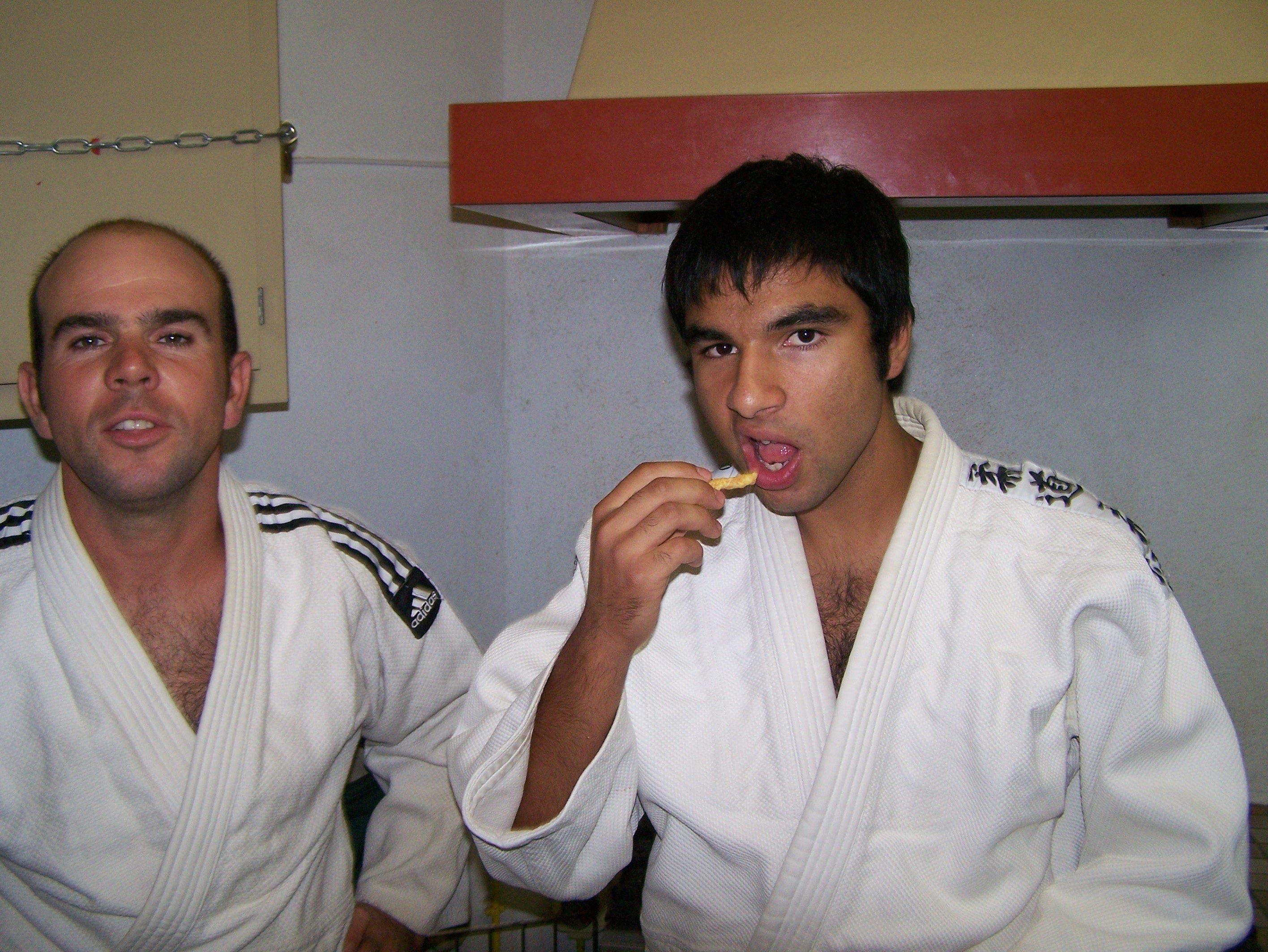 Dans les vestiaires, le 09.10.2009, avec Boris et Florian.